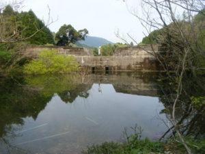 土砂災害区域設定 堰堤上流側の状況