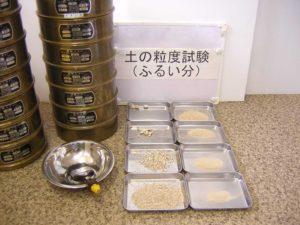 土の粒度試験(砂質土)