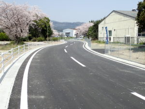 みやき町 四本柳公園2号線道路詳細設計